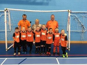 IMG_0716 - left to right - Wayne Mitchell, Joanne Shaw and John Cusick with the Blidworth Bengals Football team